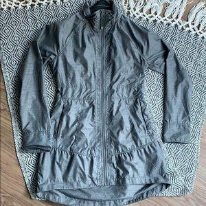 Women's Athleta Rain Coat Jacket Grey Size Small
